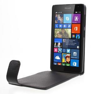 Flipové puzdro na Microsoft Lumia 535 - čierné - 2