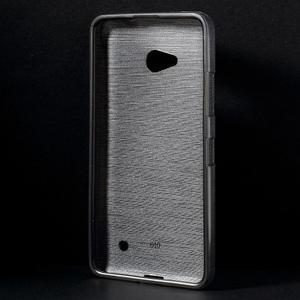 Brúsený gélový obal pre Microsoft Lumia 640 LTE - sivý - 2