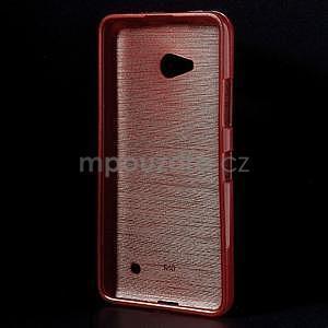 Broušený gélový obal na Microsoft Lumia 640 LTE - červený - 2