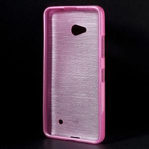 Broušený gélový obal na Microsoft Lumia 640 LTE - rose - 2