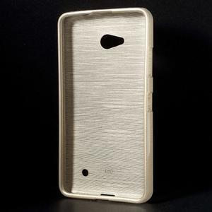 Broušený gélový obal na Microsoft Lumia 640 LTE - champagne - 2