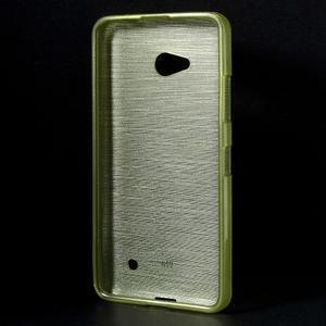 Broušený gélový obal na Microsoft Lumia 640 LTE - zelený - 2