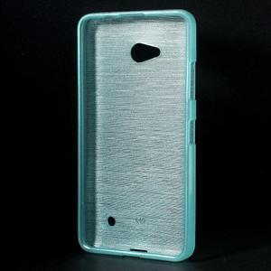 Broušený gélový obal na Microsoft Lumia 640 LTE - modrý - 2