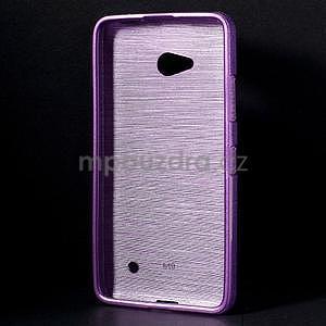 Broušený gélový obal na Microsoft Lumia 640 LTE - fialový - 2