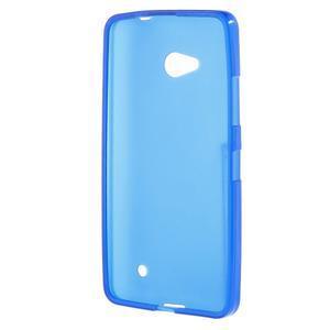 Matný gélový kryt na Microsoft Lumia 640 LTE - modrý - 2