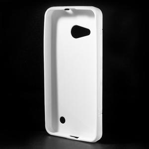 S-line gélový obal pre mobil Microsoft Lumia 550 - biely - 2