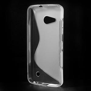 S-line gélový obal na mobil Microsoft Lumia 550 - transparentný - 2