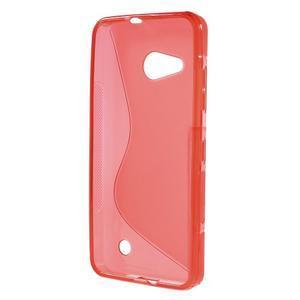 S-line gélový obal pre mobil Microsoft Lumia 550 - červený - 2