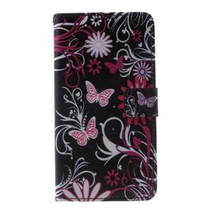 Cross peňaženkové puzdro pre Huawei Honor 7 - čarovné motýľe - 2
