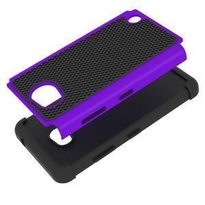 Odolný hybrdiní kryt na mobil Microsoft Lumia 640 - fialový - 2
