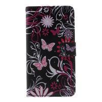 Cross peňaženkové puzdro pre Huawei Honor 7 - čarovné motýľe - 2/6
