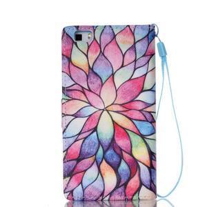 Peňaženkové puzdro Huawei Ascend P8 Lite - kvetinové lístky - 2