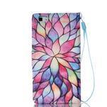 Peňaženkové puzdro Huawei Ascend P8 Lite - kvetinové lístky - 2/7