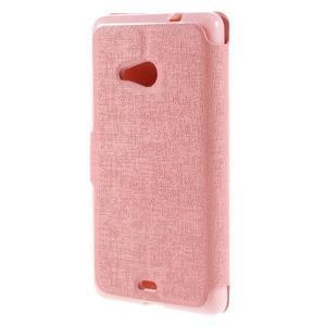 Solid puzdro pre mobil Microsoft Lumia 535 - ružové - 2