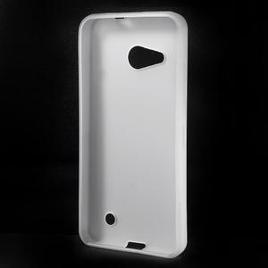 Matný gélový obal pre Microsoft Lumia 550 - biely - 2