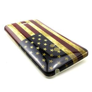 Soft gélový obal na Asus Zenfone 5 - US vlajka - 2