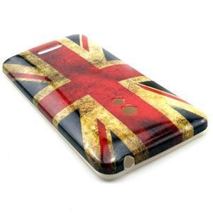 Soft gélový obal pre Asus Zenfone 5 - UK vlajka - 2
