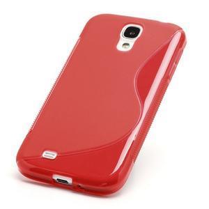 S-line gélový obal pre Samsung Galaxy S4 - červený - 2