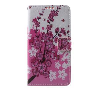 Cross peňaženkové puzdro na Huawei Honor 7 - kvetoucí větvička - 2