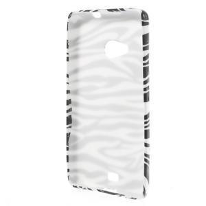 Soft gélový obal pre Microsoft Lumia 535 - zebra - 2