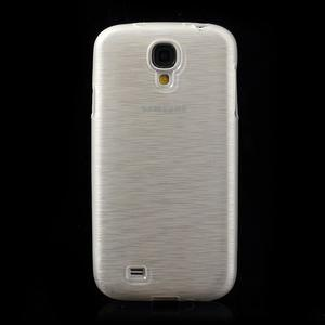 Gélový kryt s brúseným vzorem pre Samsung Galaxy S4 - biely - 2