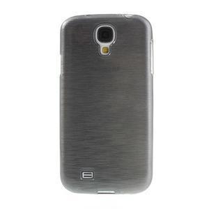 Gélový kryt s brúseným vzorem pre Samsung Galaxy S4 - šedý - 2