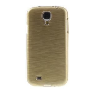 Gélový kryt s broušeným vzorem na Samsung Galaxy S4 - zlatý - 2