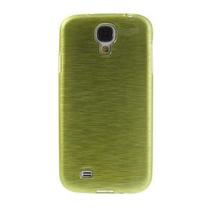 Gélový kryt s broušeným vzorem na Samsung Galaxy S4 - žlutozelený - 2