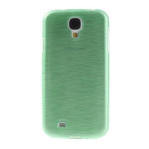 Gélový kryt s broušeným vzorem na Samsung Galaxy S4 - azurový - 2