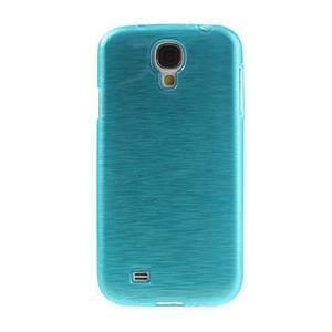 Gélový kryt s brúseným vzorem pre Samsung Galaxy S4 - modrý - 2