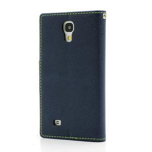 Fancy peňaženkové puzdro na Samsung Galaxy S4 - tmavo modré - 2