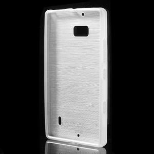 Gélový obal s brúseným vzorem Nokia Lumia 930 - biely - 2