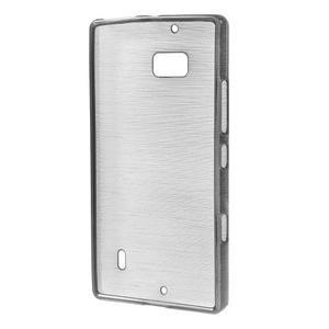 Gélový obal s brúseným vzorem Nokia Lumia 930 - sivý - 2