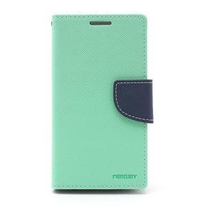 Fancy peňaženkové puzdro na Samsung Galaxy S4 -  azurové - 2