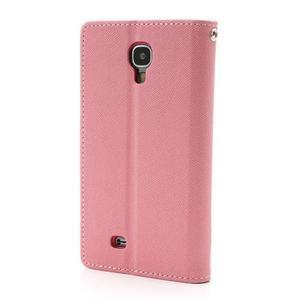 Fancy peňaženkové puzdro na Samsung Galaxy S4 -  růžové - 2