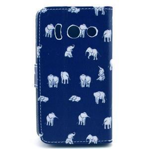Peňaženkové puzdro na Huawei Ascend Y300 - banda slonov - 2