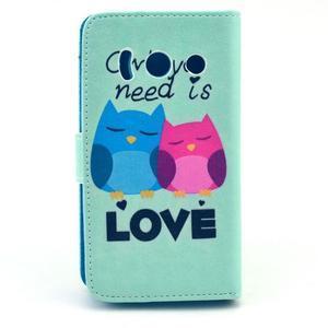Peňaženkové puzdro na Huawei Ascend Y300 - love - 2