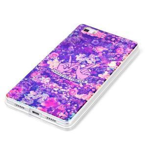 Blu-ray magic gélový obal na Huawei Ascend P8 Lite - kvety - 2