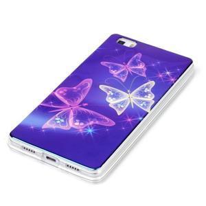 Blu-ray magic gélový obal na Huawei Ascend P8 Lite - kúzelní motýľe - 2