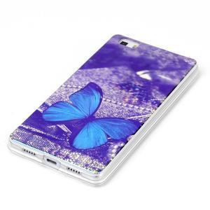 Blu-ray magic gelový obal na Huawei Ascend P8 Lite - modrý motýl - 2