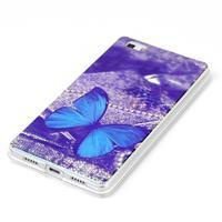 Blu-ray magic gelový obal na Huawei Ascend P8 Lite - modrý motýl - 2/3