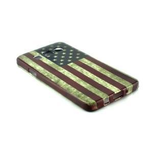 Gélový kryt na Samsung Galaxy A3 - vlajka USA - 2