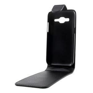Černé flipové puzdro pre Samsung Galaxy Core Prime - 2