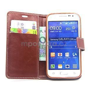 Hnedé puzdro pre Samgung Galaxy Core Prime - 2