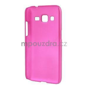 Pogumový plastový obal pre Samsung Galaxy Core Prime - rose - 2