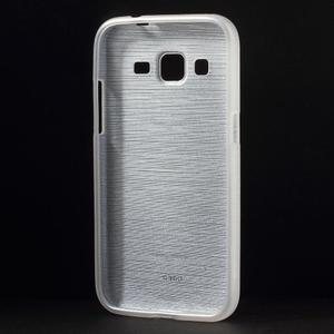 Broušený gelový kryt na Samsung Galaxy Core Prime - transparentní - 2
