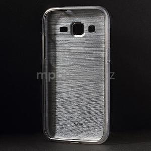 Brúsený gélový kryt pre Samsung Galaxy Core Prime - šedý - 2