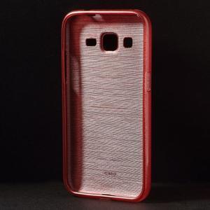 Brúsený gélový kryt pre Samsung Galaxy Core Prime - červený - 2