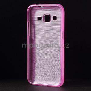Broušený gelový kryt na Samsung Galaxy Core Prime - rose - 2