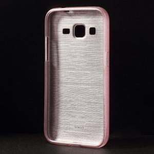 Brúsený gélový kryt pre Samsung Galaxy Core Prime - ružový - 2